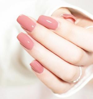 2020新款冰透裸粉色温柔显白美甲
