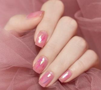 初秋简约款粉色系气质显白美甲