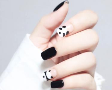 团宠大熊猫卡通美甲