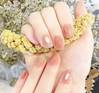仙女款冰透粉色系玻璃纸少女心婚甲