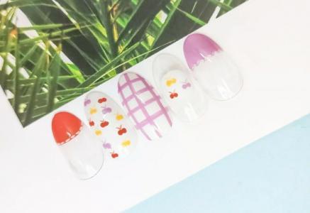 夏日ins简约糖果色指甲款式2021