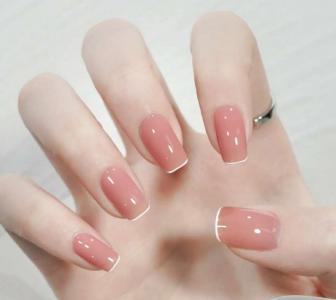 秋日限定温柔奶油粉橘美甲最新款式