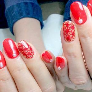 红色喜庆2016新年美甲图片