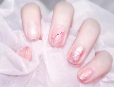 夏日粉粉嫩嫩的温柔气质少女心美甲
