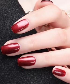 2020新款红色系时尚美甲